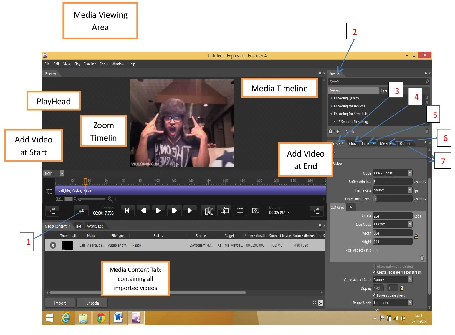 how to cut video in microsoft encoder